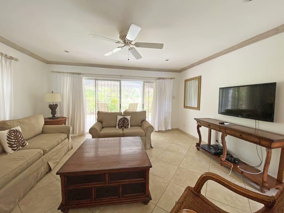 Spacious living room adjoining terrace