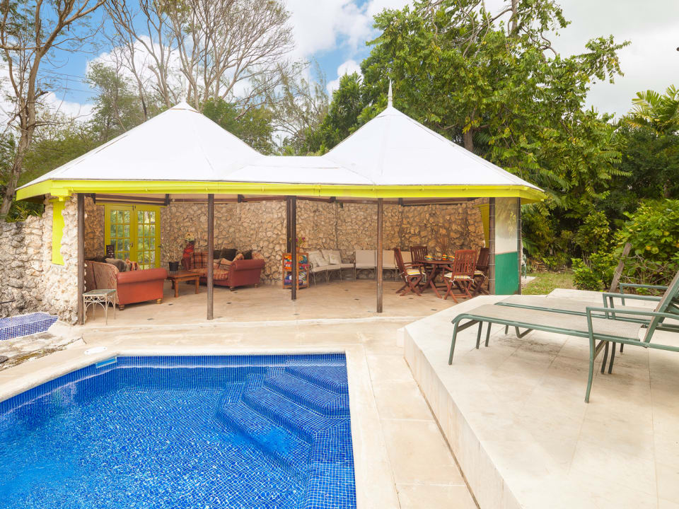 VIEW OF POOL AND GAZEBO
