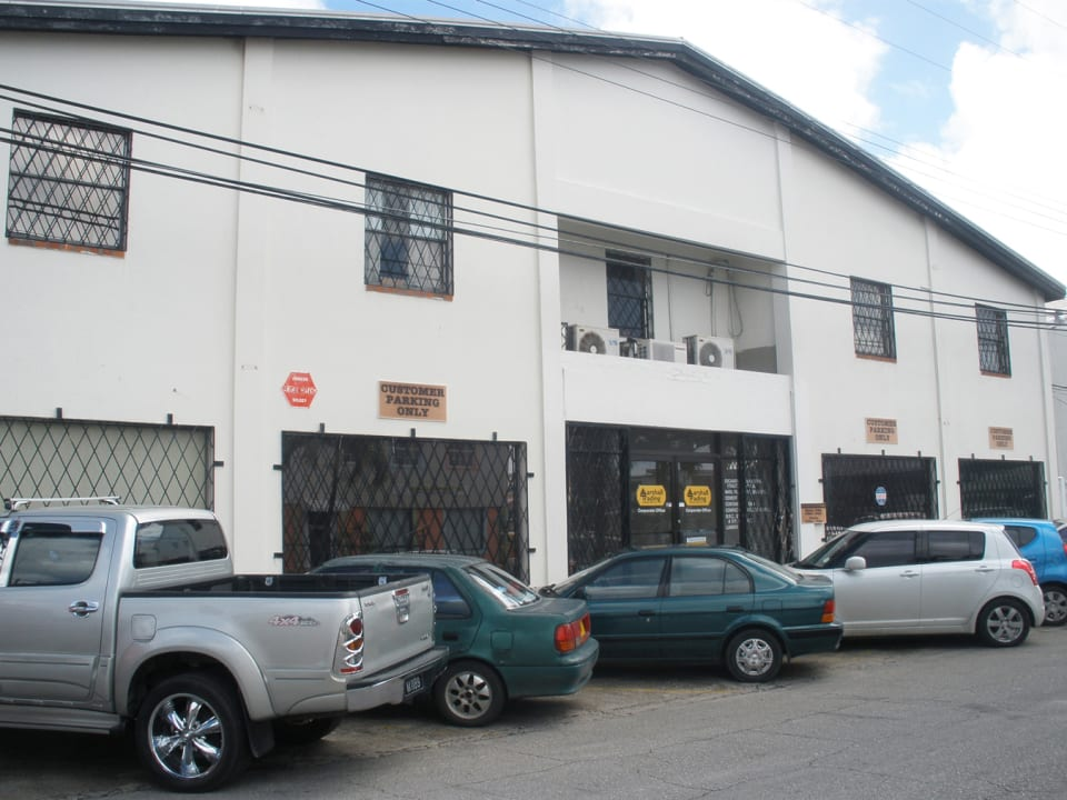 Storefront with parking