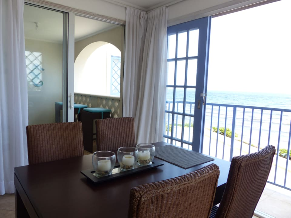 Dining area from the patio