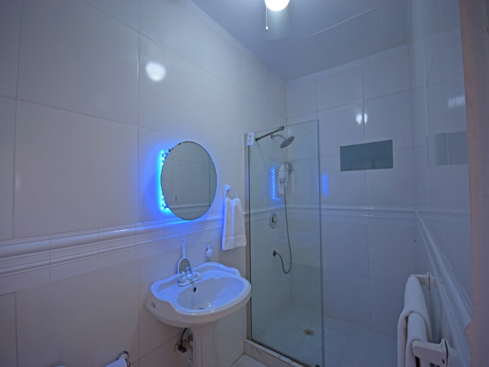 Spacious and updated bathroom