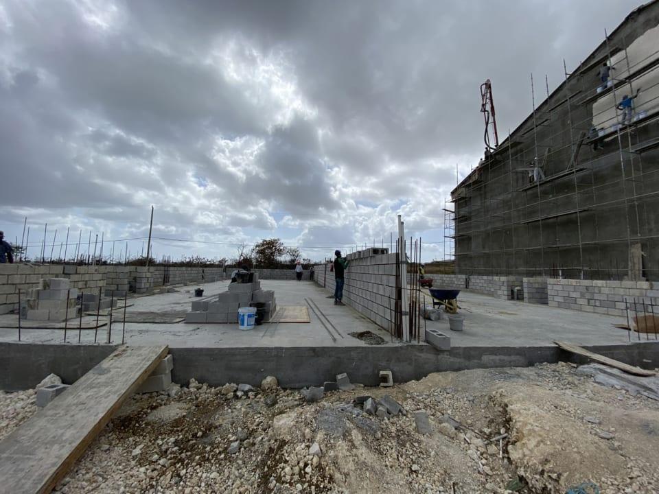 Warehouse bays under construction