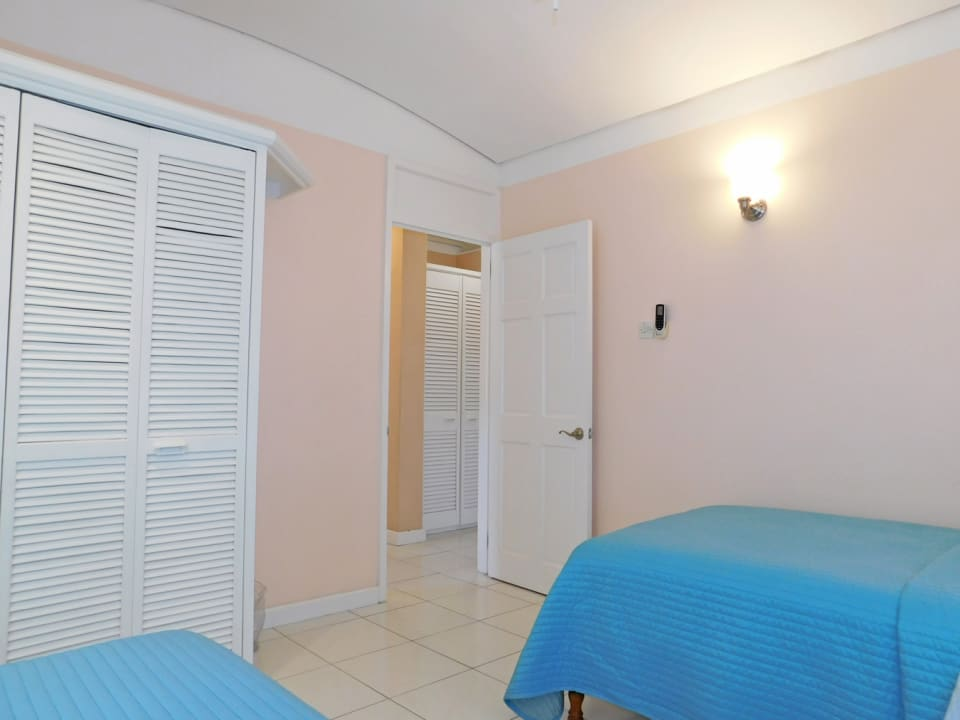 Bedroom 1 with built in cupboards