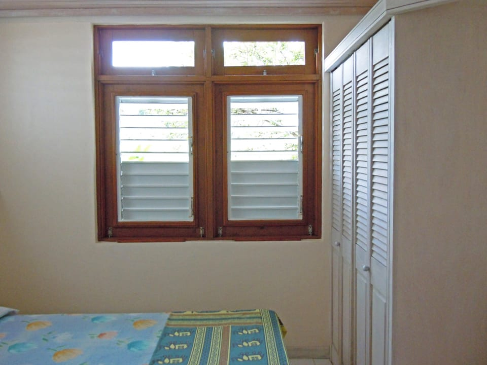 Bedroom with secure Windows