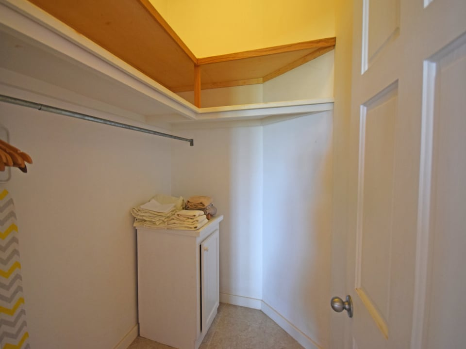 Walk in closet off the main bedroom