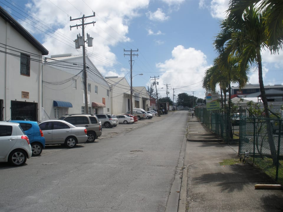 Road frontage looking east