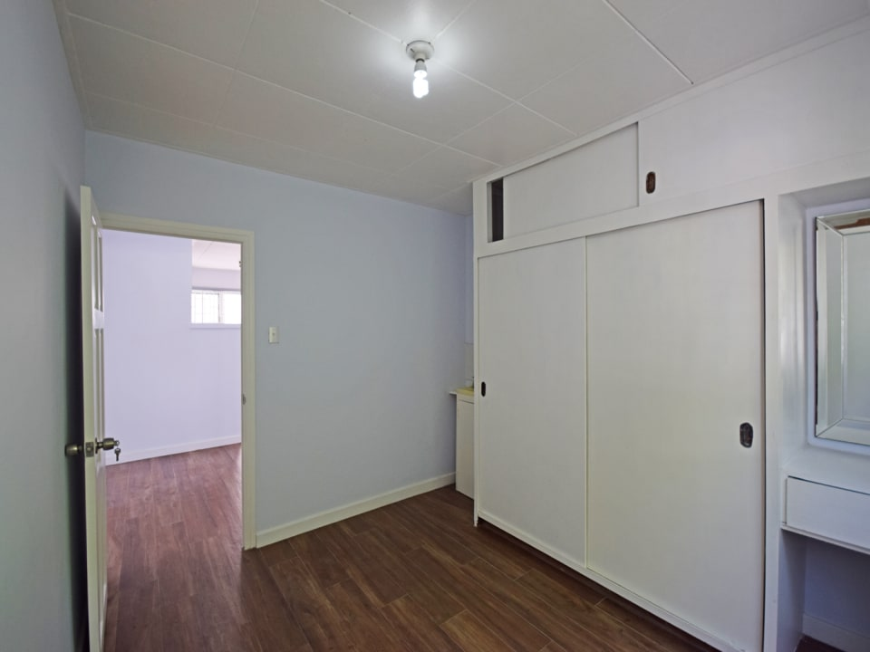 Main bedroom with build in closets