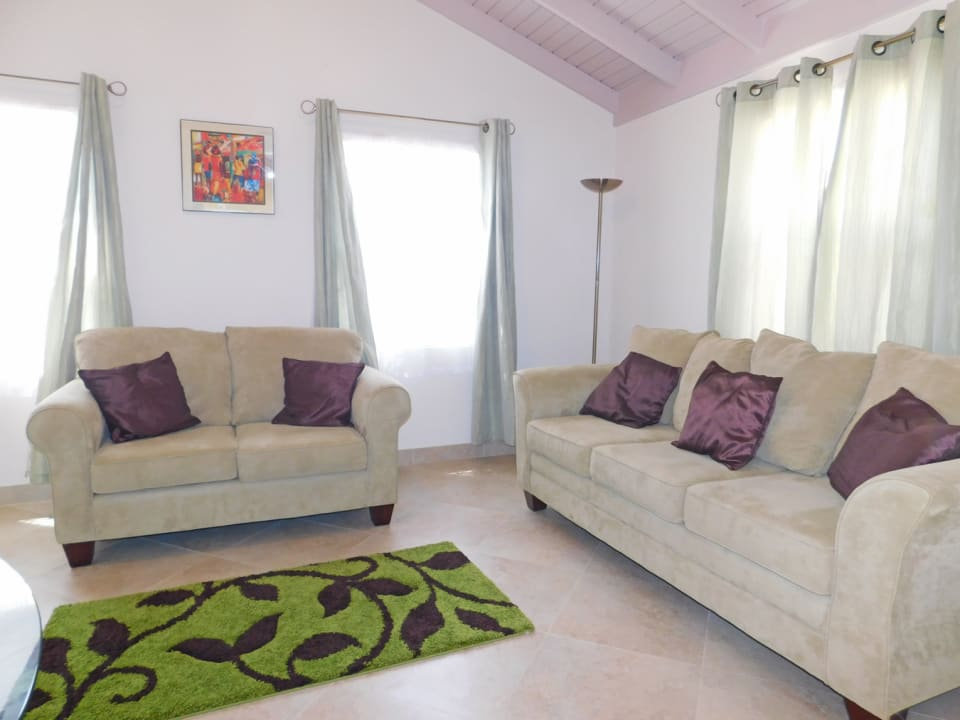 Three seater and two seater sofa in the living area