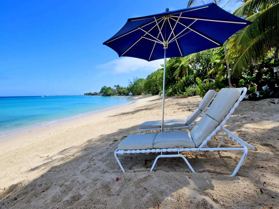 Beach chairs and umbrella included