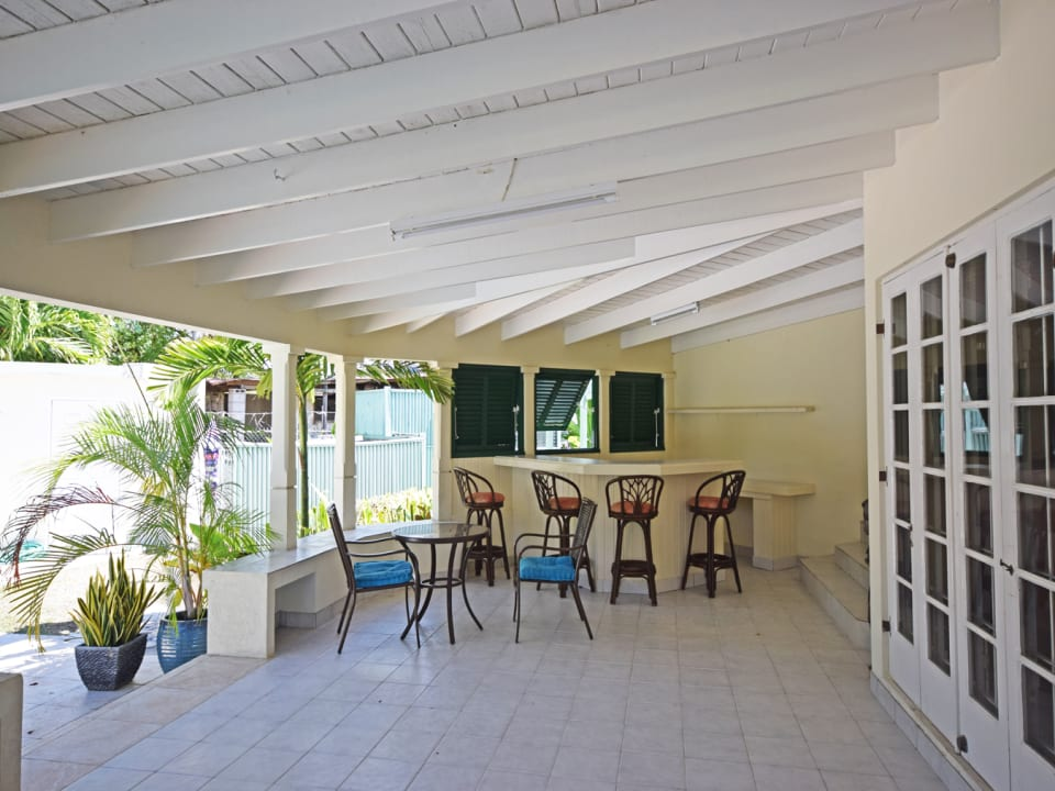 Covered Patio leads onto Pool Deck