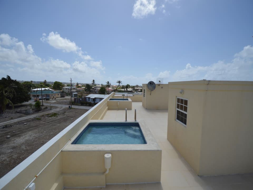 Communal pools on roof deck