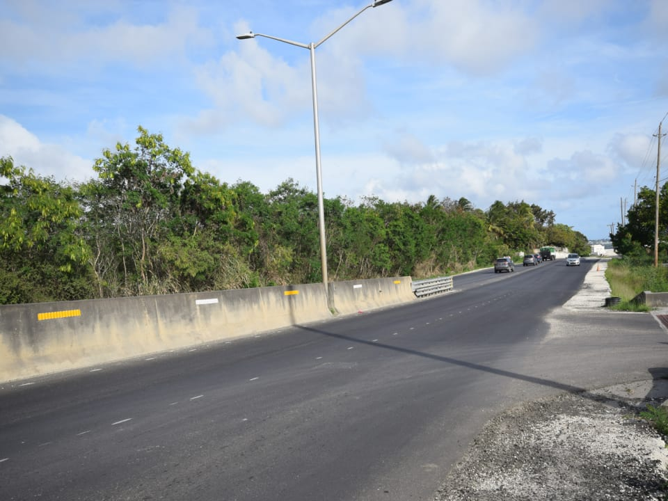 View looking South along Highway 2