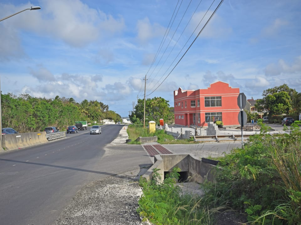 Streetscape along Highway 2