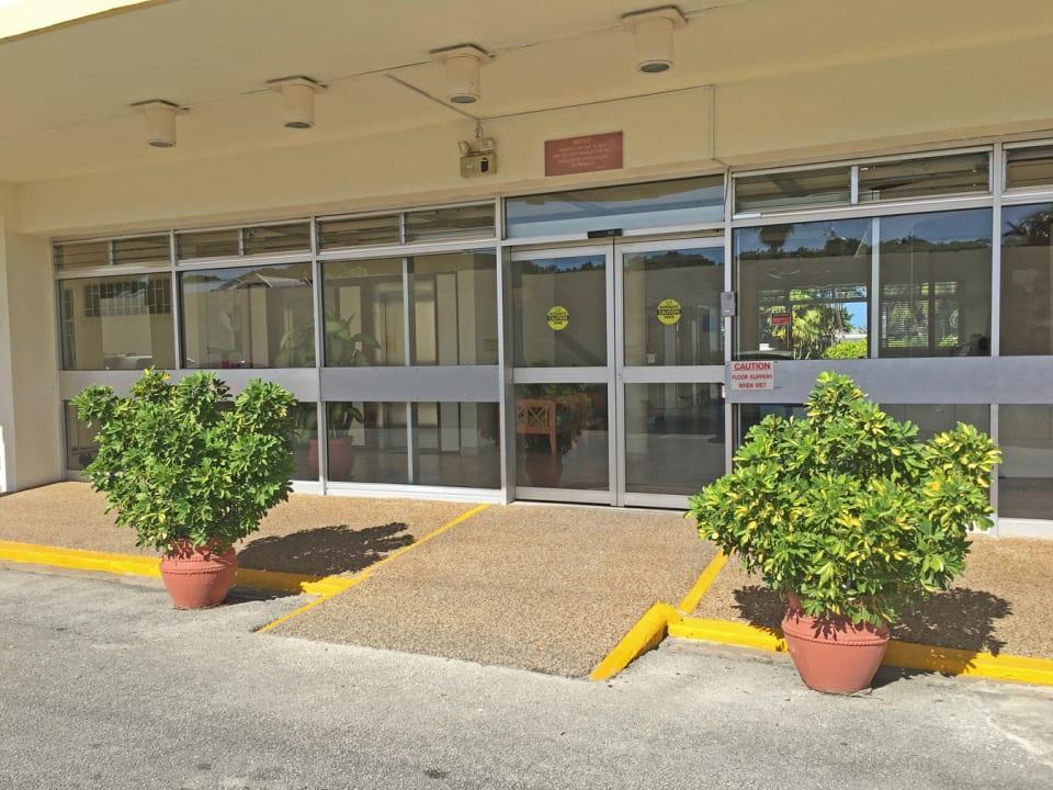 Main entrance to apartments