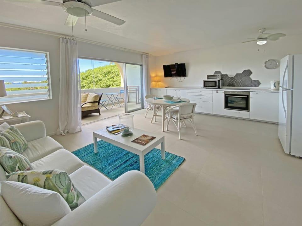 Modern open plan apartment with gorgeous views