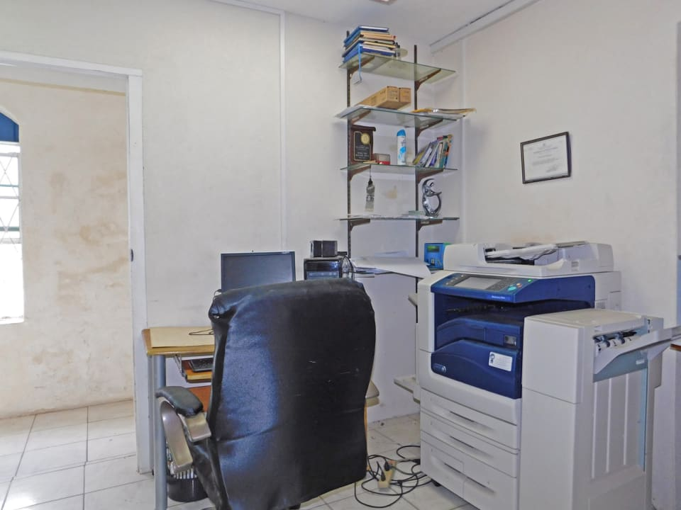 Office area located downstairs