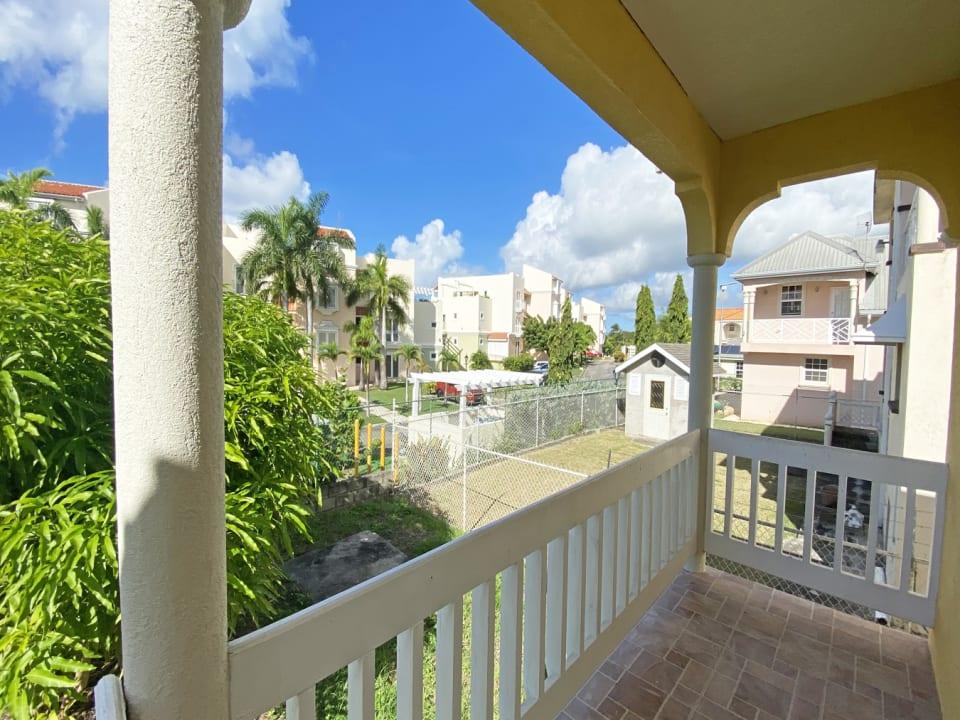 Back patio overlooking El Sol Sureno