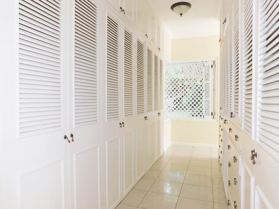 Walk through cupboards in the main bedroom