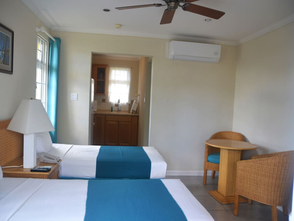 Double Beds and AC unit