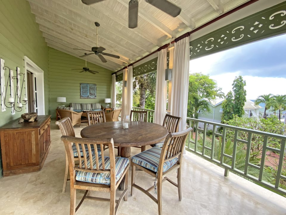 Spacious terrace with outdoor dining and living