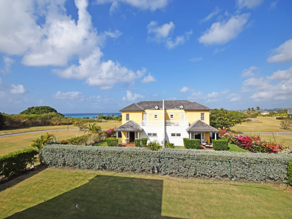 Fully enclosed property with views of the Caribbean Sea