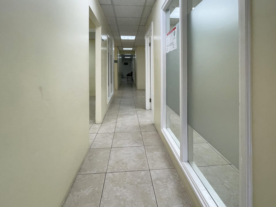 Passageway to the various offices