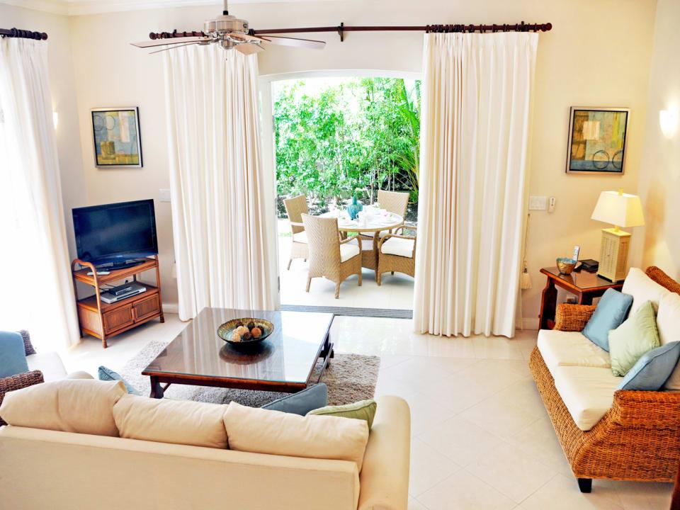 Living room opens onto terrace