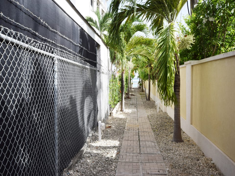 Lit and Landscaped Walkway to the Beach