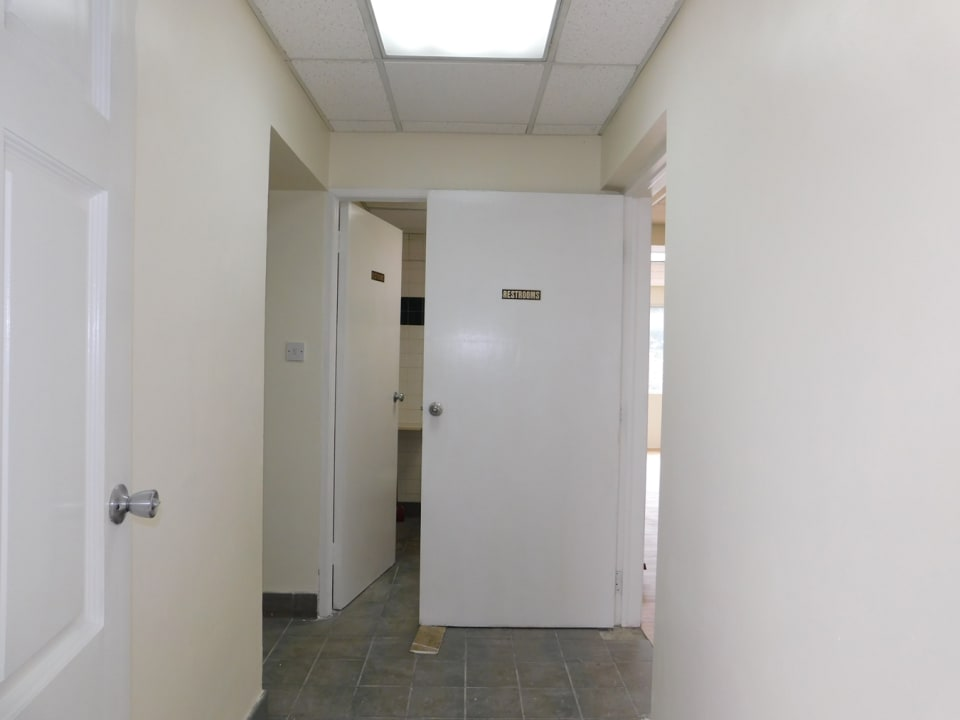 Two bathrooms and storage