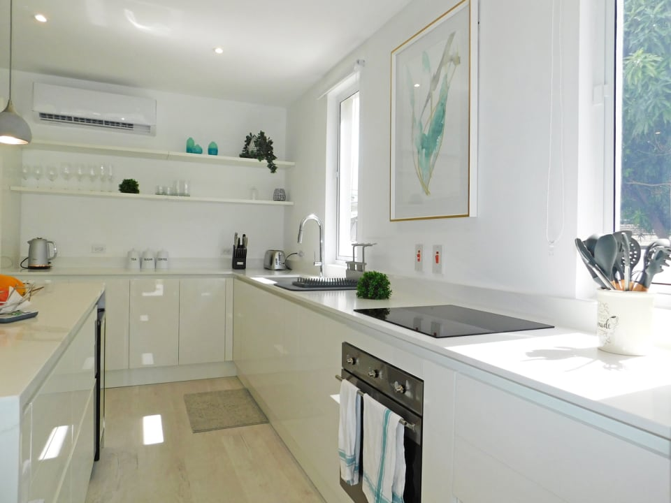 Modern kitchen with a full complement of appliances