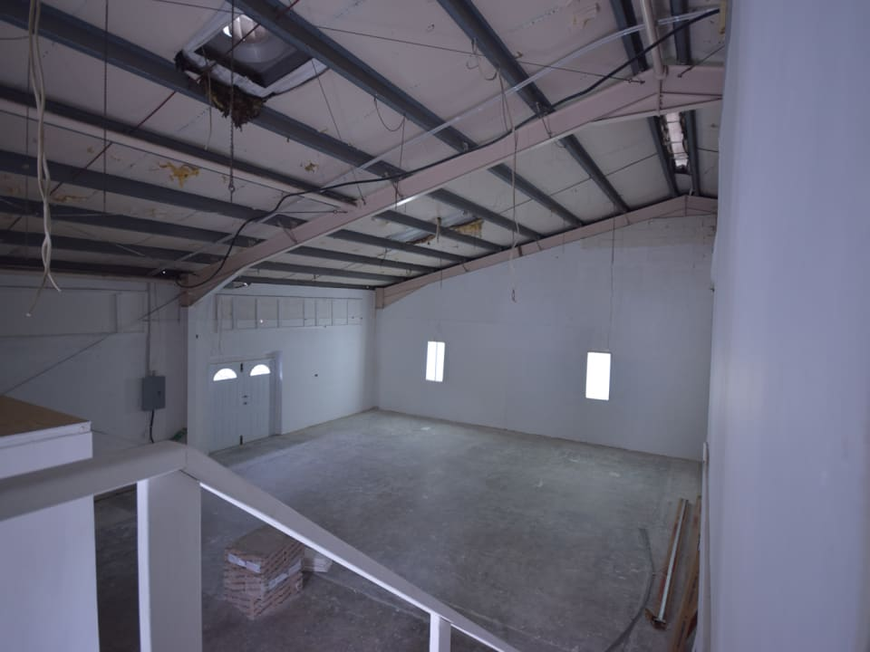 Office area overlooking the warehouse