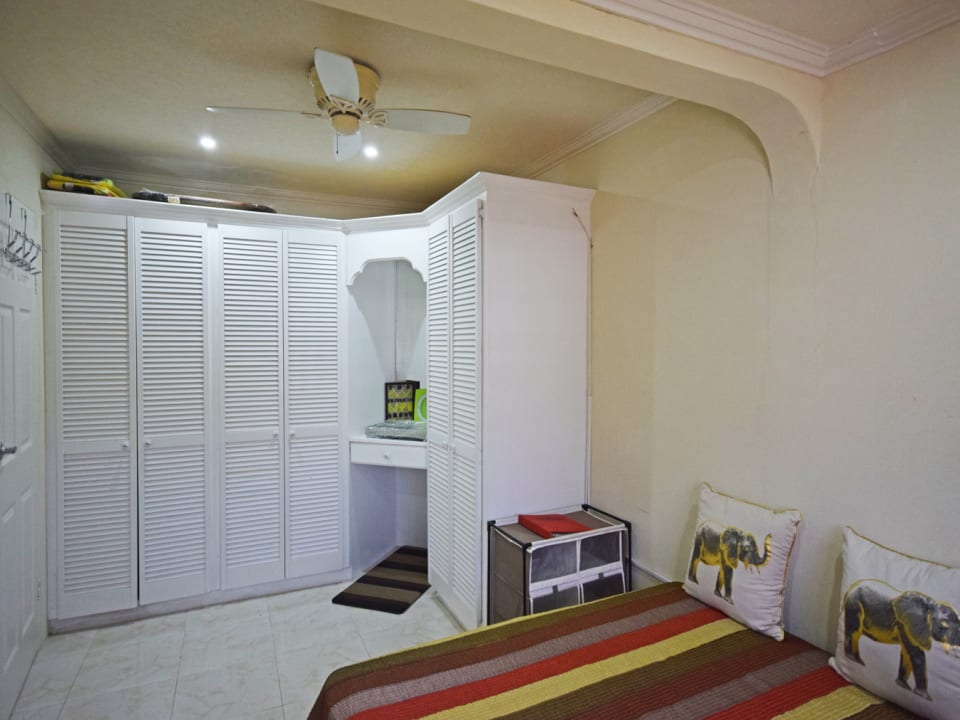 Bedroom with build in closets