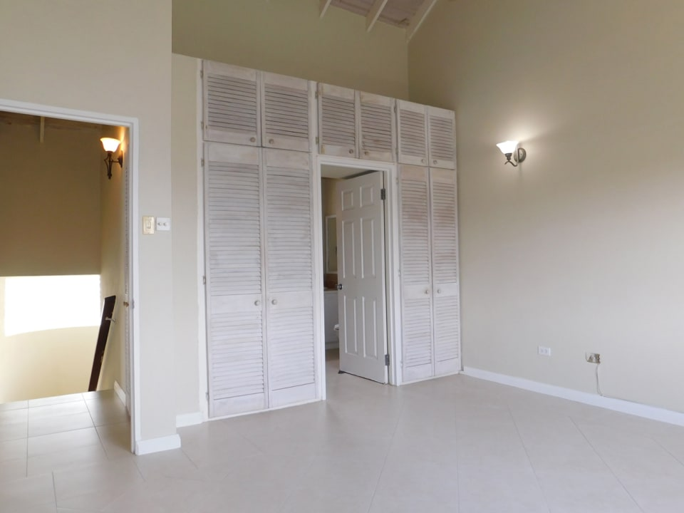 Main bedroom with excellent closet space