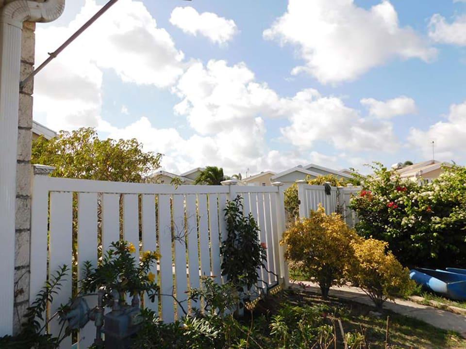 Garden entrance to the property