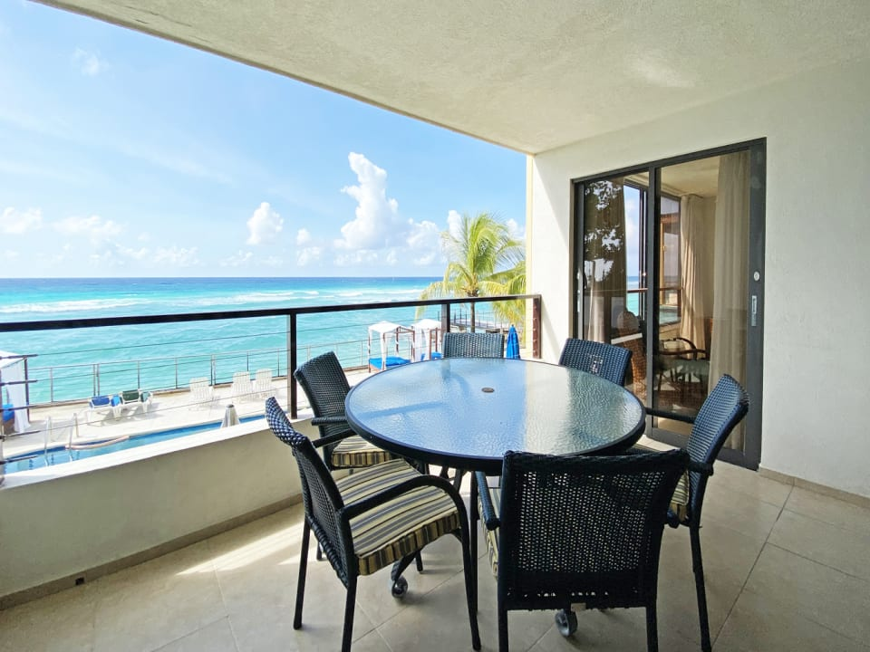 Patio with blissful sea views