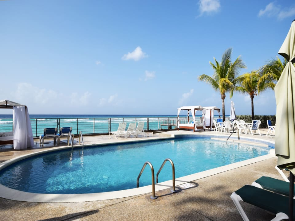Shared pool with expansive sea views