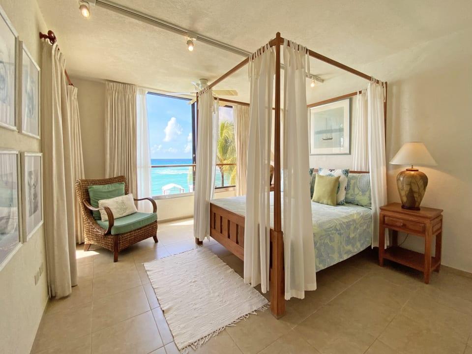 Bedroom with breathtaking sea views