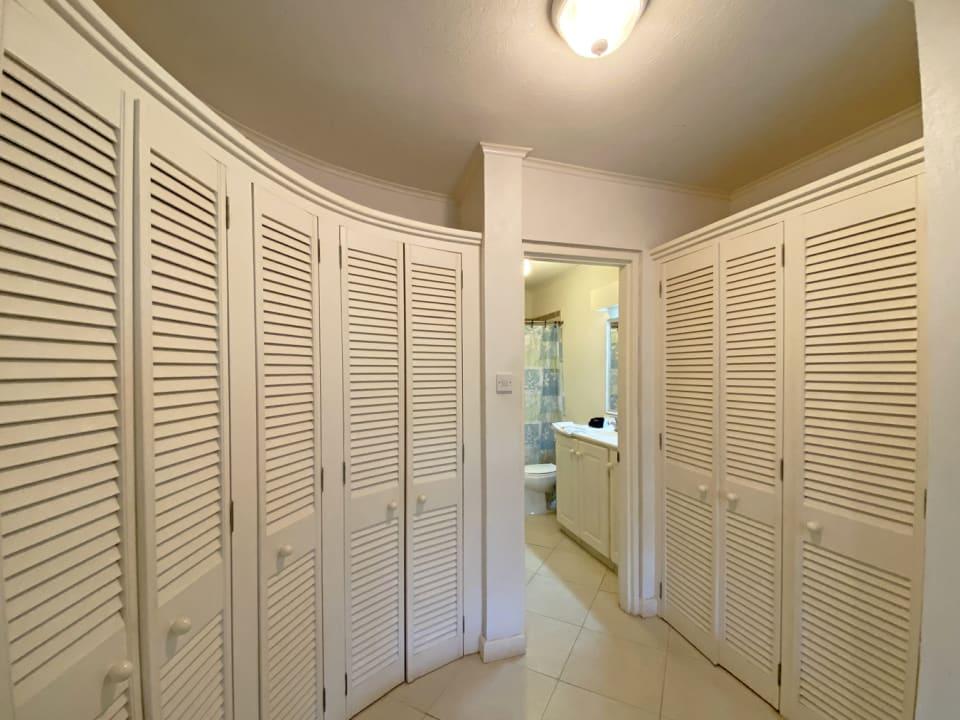 Built in cupboard space in the main bedroom