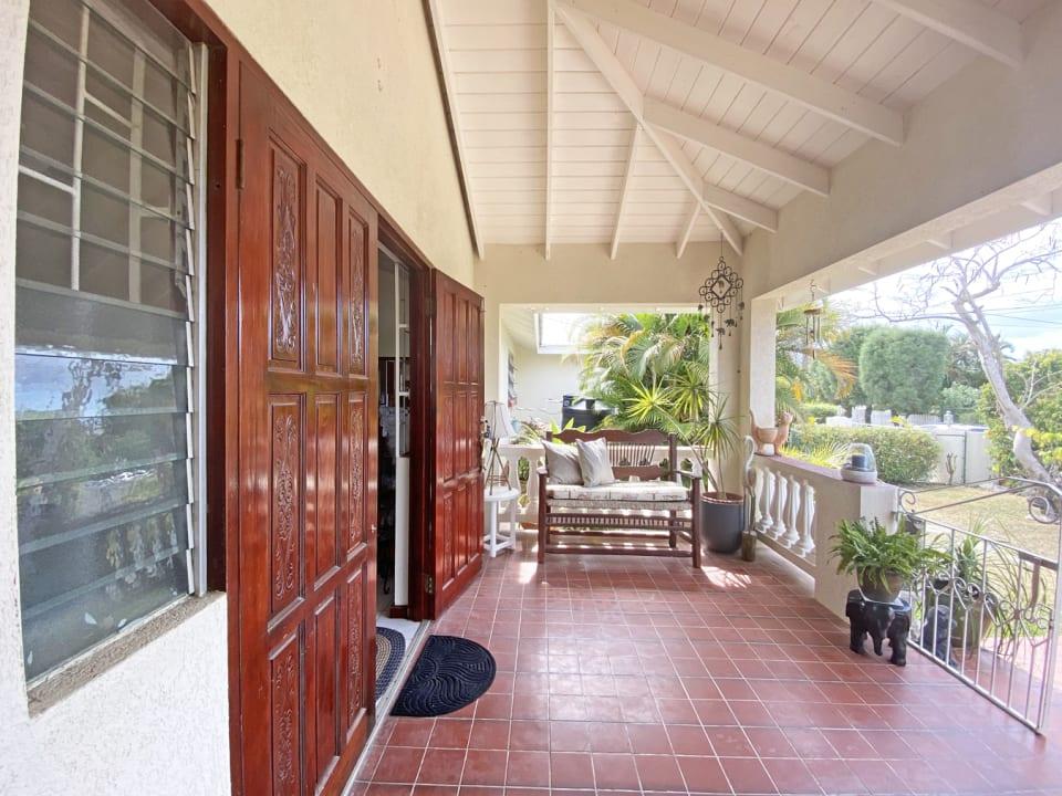 Main entrance through double doors
