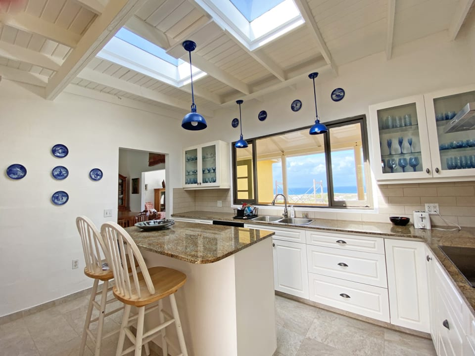Kitchen with Lovely Sea View