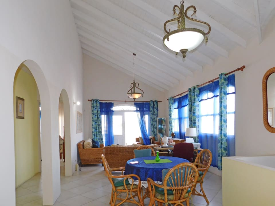 Dining and Living flows out to the large patio