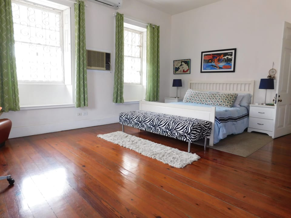 Bedroom 3 with A/C and en-suite bathroom (STAGED FOR PHOTOS ONLY - FURNITURE NOT INCLUDED)