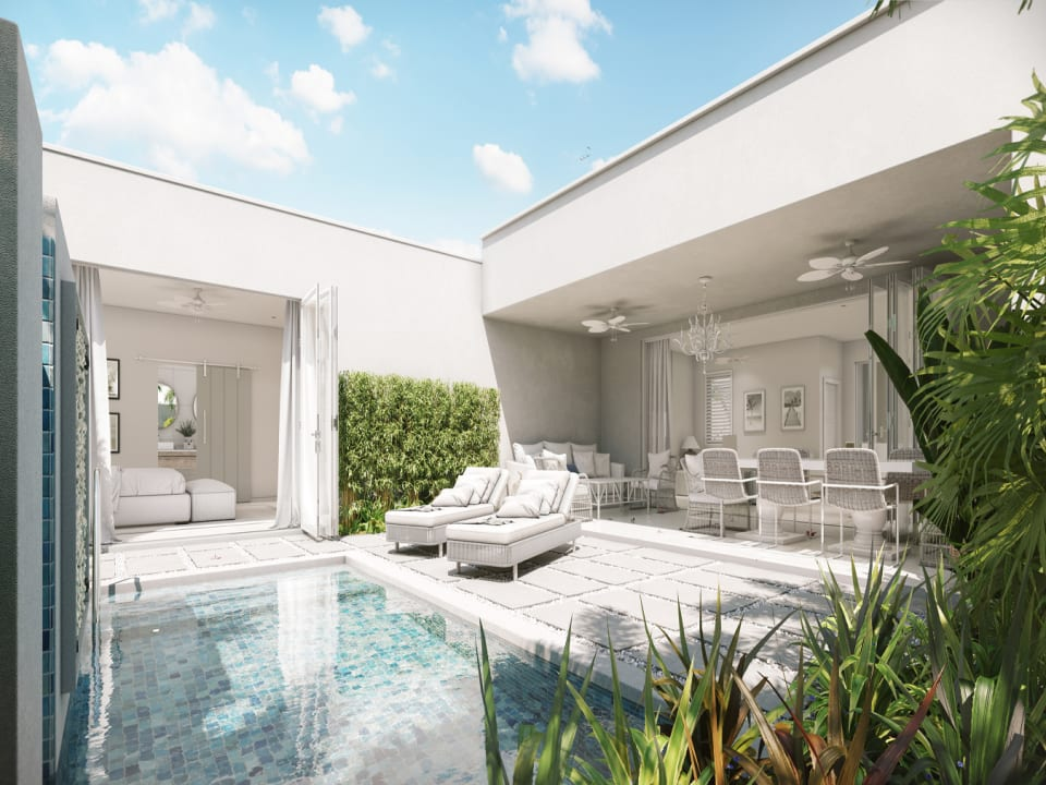 Lounge area by the private pool