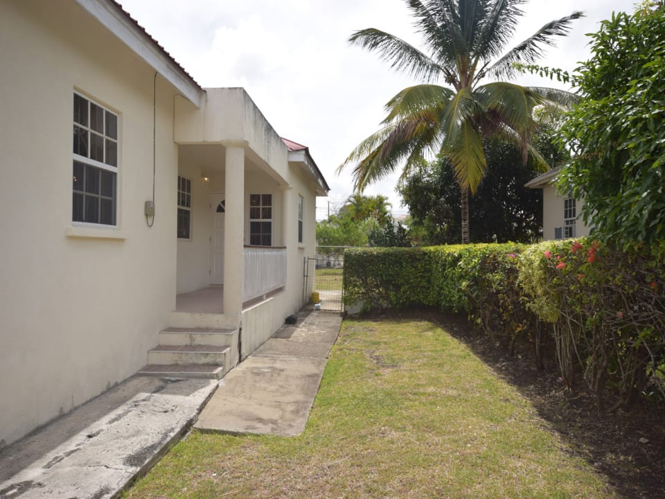 Side of House with Covered Patio