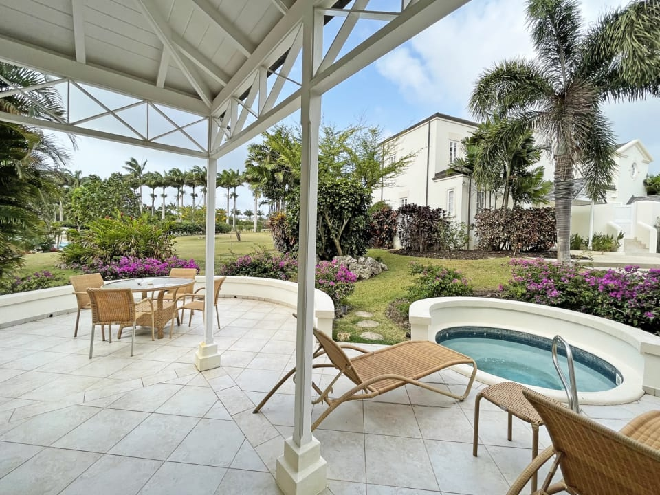 Large Patio and Plunge Pool