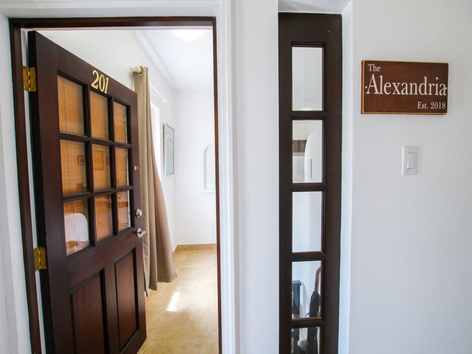 Entrance to The Alexandria