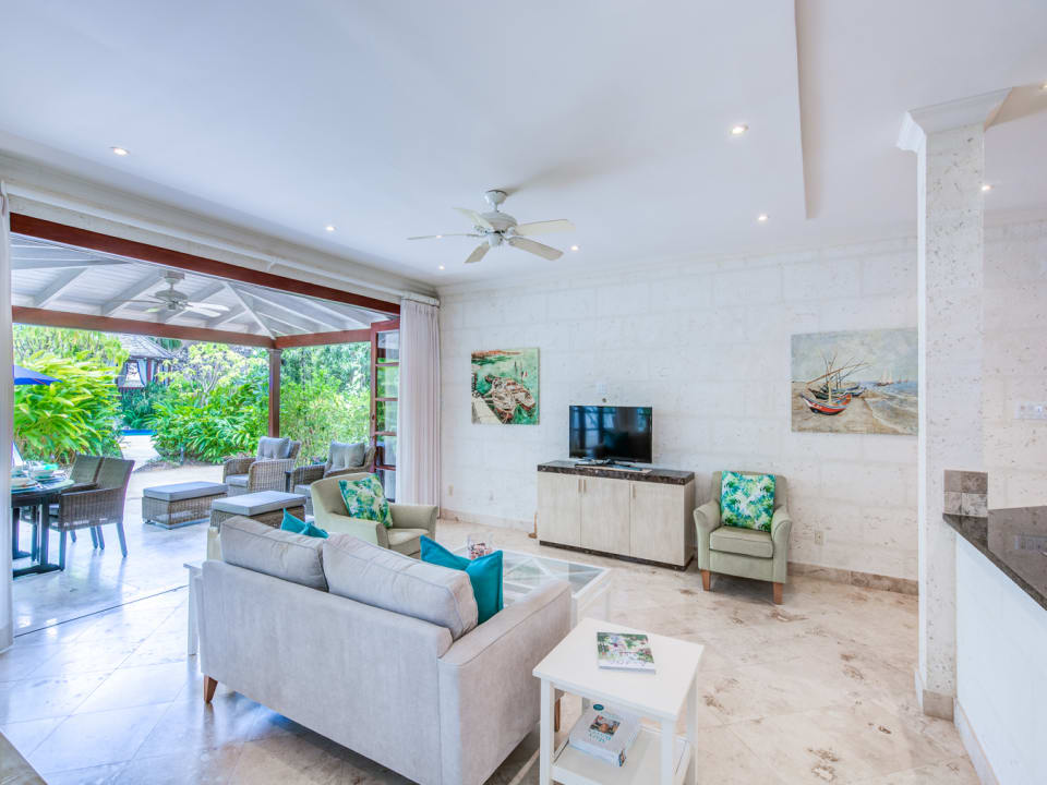 Open plan living and dining flows seamlessly to the terrace