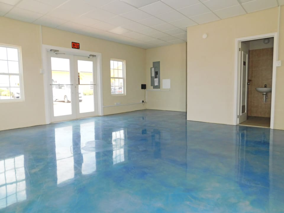 Open area with concrete finished floor