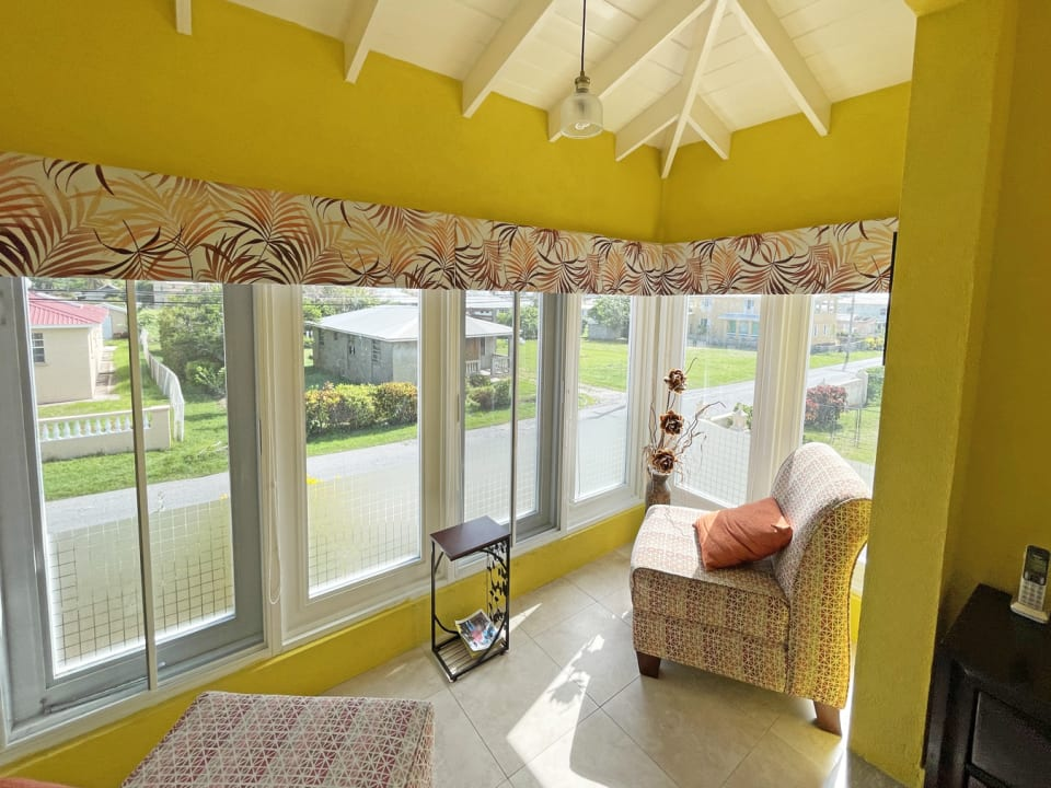 Enclosed patio with great natural light
