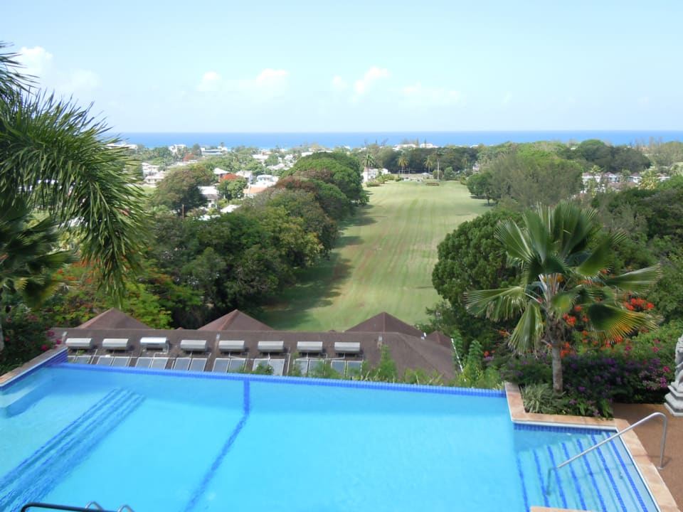 pool and 1st fairway Rockley Golf Course